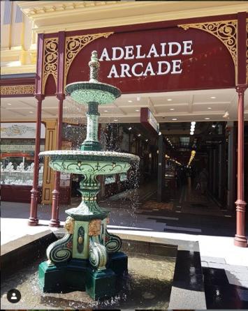 Fountain at Adelaide Arcade