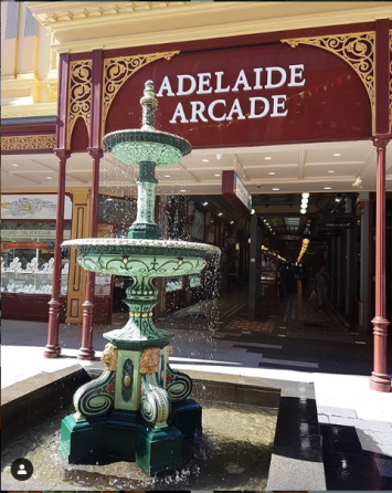 Fountain at Adelaide Arcade